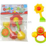 2PCS/ SET Plastic Baby Rattles Flower