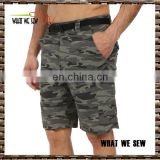 pants style and adults age group sport shorts camouflage 6 pocket shorts for men wholesale gym plus size shorts