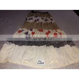 Women's Designer Handmade Cotton White Printed Skirt girls wear long Dress party Wear