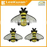 bee sequin embroidery patch applique, sequin bee sticker patch, shiny PU & sequin embroidery cartoon design