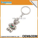 Funny cute cartoon teddy bear keyring custom logo panda keychain