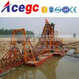 China bucket sand/gold mining dredger equipment for sale