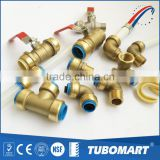 Lead Free Connect Copper / Pex / CPVC pipes brass push in fitting with good price                                                                                         Most Popular