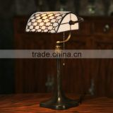 Tiffany style bead curtains table lamp wholesale led light night reading glass table lamp bank lamp