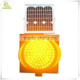 Driveway traffic safety anti-UV ABS plastic shell solar LED strobe light