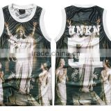 Wholesale breathable basketball jersey custom made sublimated men's fashion tank top                                                                         Quality Choice
