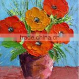 Skilled Artists Handmade Modern Lovely Pot of Flowers Oil Painting on Canvas for Home Decoration