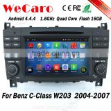 Wecaro WC-MB7508 Android 4.4.4 gps navigation 1080p for mercedes benz c-class w203 car dvd player 2004 - 2007 Wifi&3G