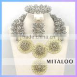 Mitaloo MT0003 Hot Sale Style Wholasale Price Elegant Costume Necklace Earring Jewelry Set Bridal