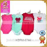 Wholesale 100% Cotton Baby Garments Stocklot Short Sleeve Baby Romper Closeout