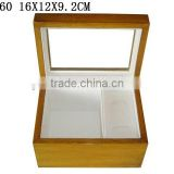 Glossy Wooden Gift Box for Cufflink Bow Tie Box With PVC Packaging Window W460