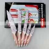 Fashion Printing kitchen knife set