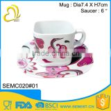 hot selling melamine square plastic coffee cup