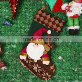 Christmas Socks Santa Claus and Deer Pattern for Christmas Stocking Christmas Ornaments 2016