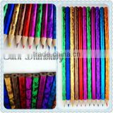 "promotional 7""wooden Multi Color heat transfer revolving painting color lead drawing Pencil logo available"