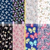 Beautiful printed underwear fabric /Butterfly pattern design printed fabric for underwear