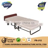 Comfortable guest folding bed,metal foldable extra bed(FS-J12)
