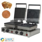 Electric double head waffle cone iron baker for baking cone waffle (SUNRRY SY-WM57D)                                                                         Quality Choice