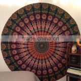 Wholesale Indian Mandala Round Hippy Boho Cotton Tablecloth Towel Tapestry Throw Yoga Mat Beach Blanket