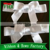 gift packing promotion polyester solid color satin ribbon bows in ribbon bow with adhesive tape