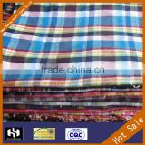 China wholesale 16s*16s yarn dyed checked fabric shirt fabric name of textile industries