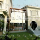 Aluminium garden triangle roof glass house/conservatory/sun room/gazebo