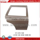 Hot sale SUYANG LIFAN 320 rear door auto zone parts prices