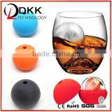 DKK-B072 Ice Ball Cube Trays - Pack of 2 | Silicone Ice Ball Mould, Ice Sphere Mould, Ice Cube Ball Mould