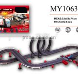 Cool item! 1:43 slot track with electric hand generator system track slot racing car with music & speed counter & traffic circle
