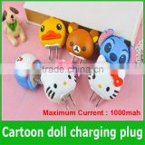 Portable Cute Cartoon usb Traval Charger for iphone Charger,Christmas Mini Gift Micro usb Home Charger Adapter