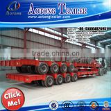 Hydraulic axle toneladas 200 cama baja, hydraulic 200 tons low bed semi trailer for Chile