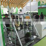 flower rolling display cart,metallic warehouse trolley