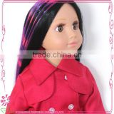 purple color fashion doll wig for 18 inch girl doll