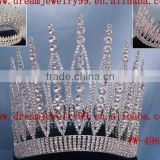 high end tall pageant rhinestone crown