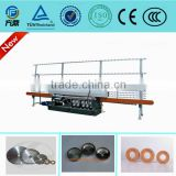 9 wheels head straight line glass beveling machine glass grinding machine