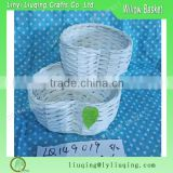 Wholesale Pair of Decorative Small wicker wire Basket Hinged Storage Boxes Heart Shape