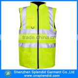 mens workwear multi pocket work vest reflector 100% polyester breathable waistcoat                                                                                                         Supplier's Choice