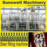 manual capsule glass bottle filling machine Carbonated drink filling machine beer filling