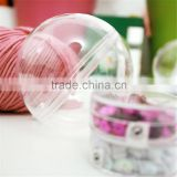 Clear Transparent Plastic Bauble Ball Homemade Christmas Tree Ornamen