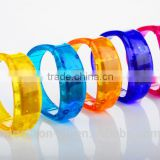Sound activated LED flashlight wristband LED light up PVC bracelet party promotion gift wristband