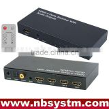 HDMI Switcher with Audio Output (4xHDMI to input, 1xHDMI+Stereo+Optical Toslink+Coaxial output) with remote