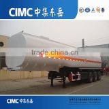 CIMC brand 3 Axle carbon steel semi fuel tanker trailer with multi size and capacity optional