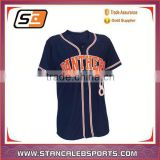 Stan Caleb sublimation blank Custom baseball jerseys bottons shirt fully sublimation baseball uniforms