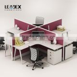 2016 hot sale modern design office furniture wooden cubicle modular office workstation for 4 person