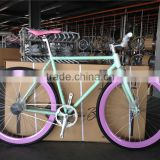 2016 factory colorful fixed gear bikes manufacturer wholesale price fixie bicycles