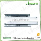 hardware supplies full extension undermount push open bearer channel furniture fittings drawer slide