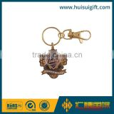 high quality promotional gold plating metal keychain