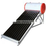 evacuated tube low pressure solar water heater with aluminum alloy stand frame