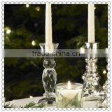 Clear Crystal Pillar Light Holder For Holiday Home Adornment