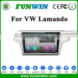 Funwin china factory oem 10.1 inch double din Car GPS navigation support 3G/WIFI/DVR for VW Lamando